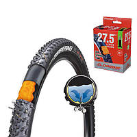 Велокамера 28x1.75, 28x2.10, 47/52-622, AV=48mm ChaoYang антипрокольная с самозаклеивающим герметиком
