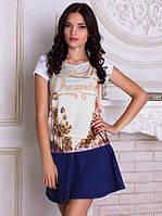Женсая футболка с широким горлом Калифорнийский пейзаж