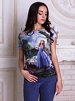 Женсая футболка с широким горлом Алиса фильм