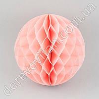 Бумажный шар-соты, светло-розовый, 30 см