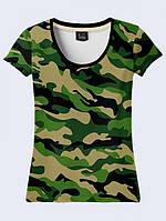 Женсая футболка Camouflage