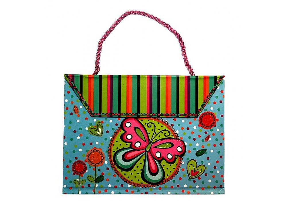 """Блокнот-сумочка  """"Бабочка""""  на магните (SW320602)"""