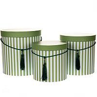 Коробоки для подарков и цветов 3 шт 0072J/green