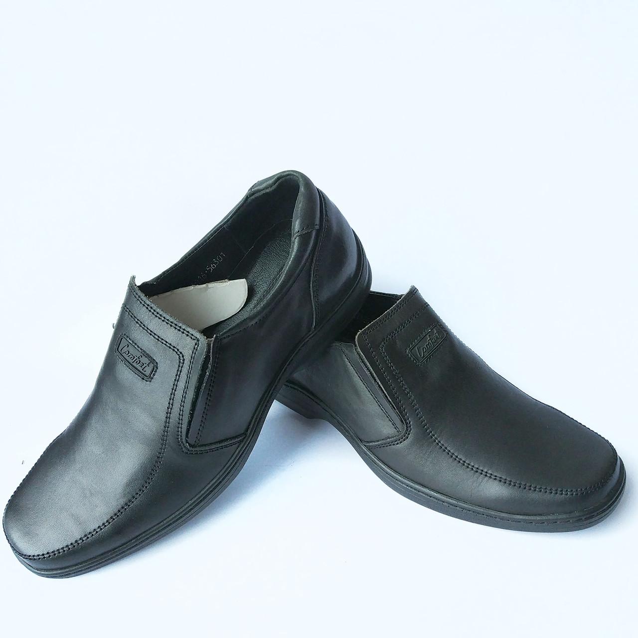 Харьковская мужская обувь Коннорс   черные кожаные туфли, повседневные 34271298555