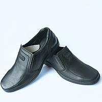 """Черные кожаные мужские туфли фабрики """"Konors"""""""