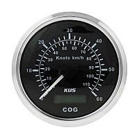 GPS-спидометр аналоговый Wema/Kus 0-60 узлов, черный, Ø 85 мм, CMSB-BS-60L