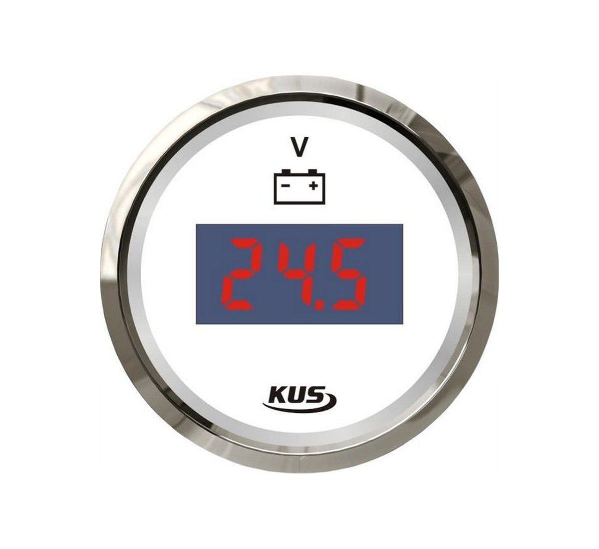 Вольтметр Wema/Kus, цифровой с ЖК-дисплеем, белый, Ø 52 мм,  CEVR-WS-9-32
