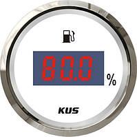 Указатель уровня топлива Wema/Kus, цифровой, белый, Ø 52 мм, CEFR-WS-4-20