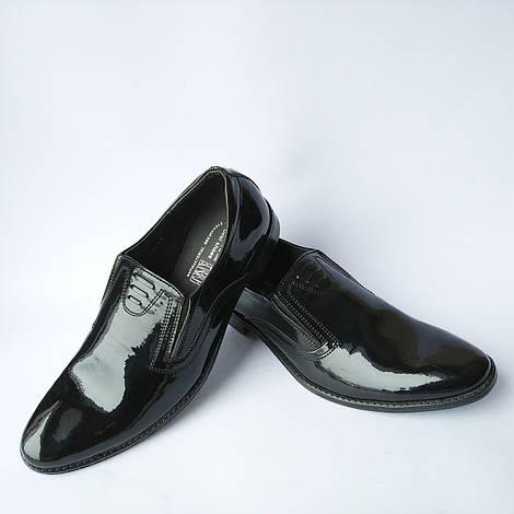Мужская обувь украинских производителей Corso : классические лаковые туфли, черного цвета, под ложку