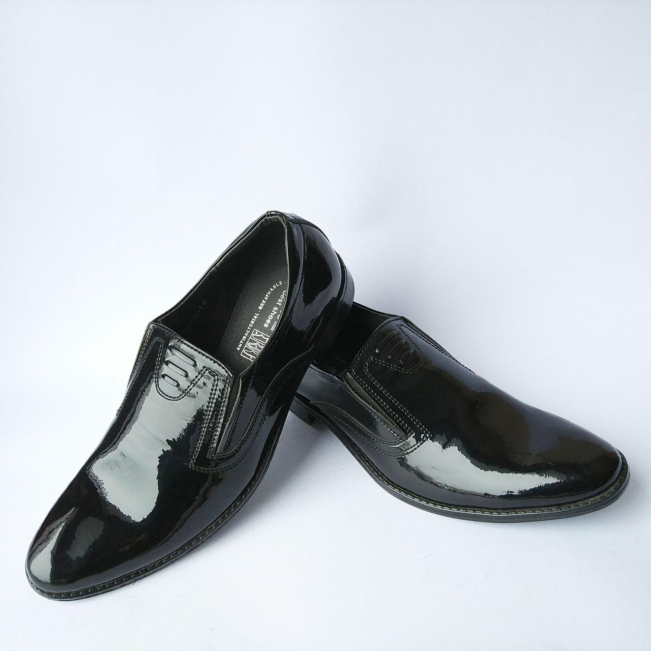 db56cd58a6dc Мужская обувь украинских производителей Corso   классические лаковые туфли,  черного цвета, под ложку -
