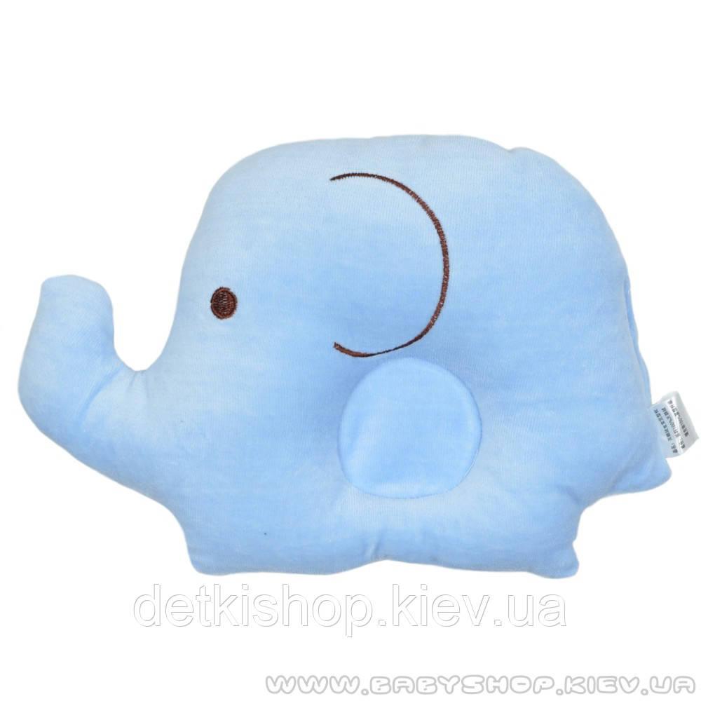 Подушка для новорожденных «Слонёнок» (голубая)