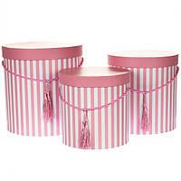 Комплект коробок для упаковки 3 шт 0072J/pink