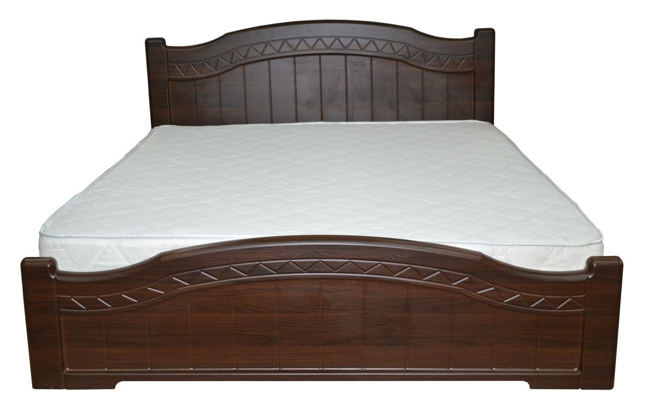 Кровать Доминика 1,4 м темный орех