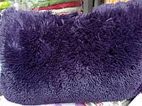 Подушка искусственный мех. Фиолетовая. Размер 50*70