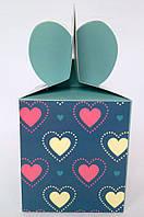 """Коробка подарочная сборная 8,5*9,5*8,5см.""""Сердце""""."""