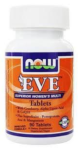 Витамины для женщин Eve Superior Women's Multi, Now Foods, 90 капсул