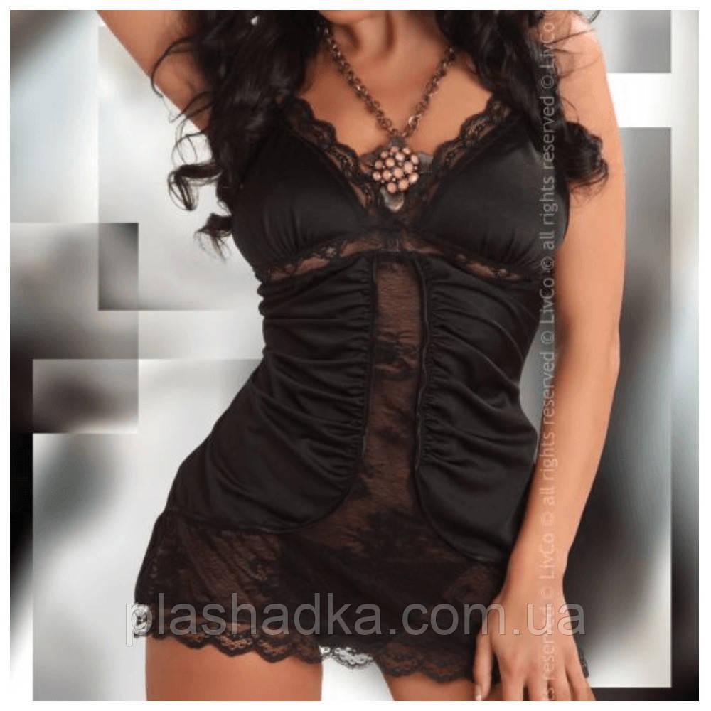 Пеньюар Mary Anne Livia Corsetti(цвет черный, размер 3XL)
