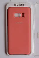 Чехол на Samsung S8 Plus Silicone cover Peach . Чехол накладка на Самсунг S8+ Персиковый