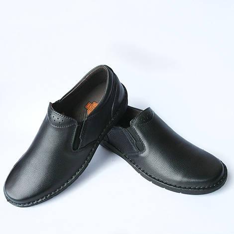 Качественная мужская обувь Detta Харьков : черные, кожаные, ортопедические мокасины