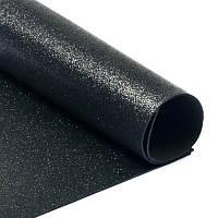 Фоамиран 2 мм с глиттером 20х30 см Черный