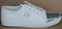 Белые кроссовки кожаные женские, кожаные женские кроссовки от производителя модель АНЖ23-04, фото 1