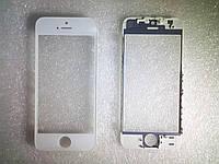 Стекло с дисплейной рамкой и OCA плёнкой для iPhone 5S белое orig качество