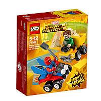 Конструктор Лего Mighty Micros: Пурпуровий Павук проти Піщаної людини 76089