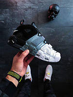 Мужские Кроссовки Nike Air More Uptempo Tricolor Black grey white