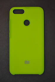 TPU + PC + MicroFiber Silicone Case for Xiaomi Mi 5X / Mi A1 Neon Green (зеленый неон)