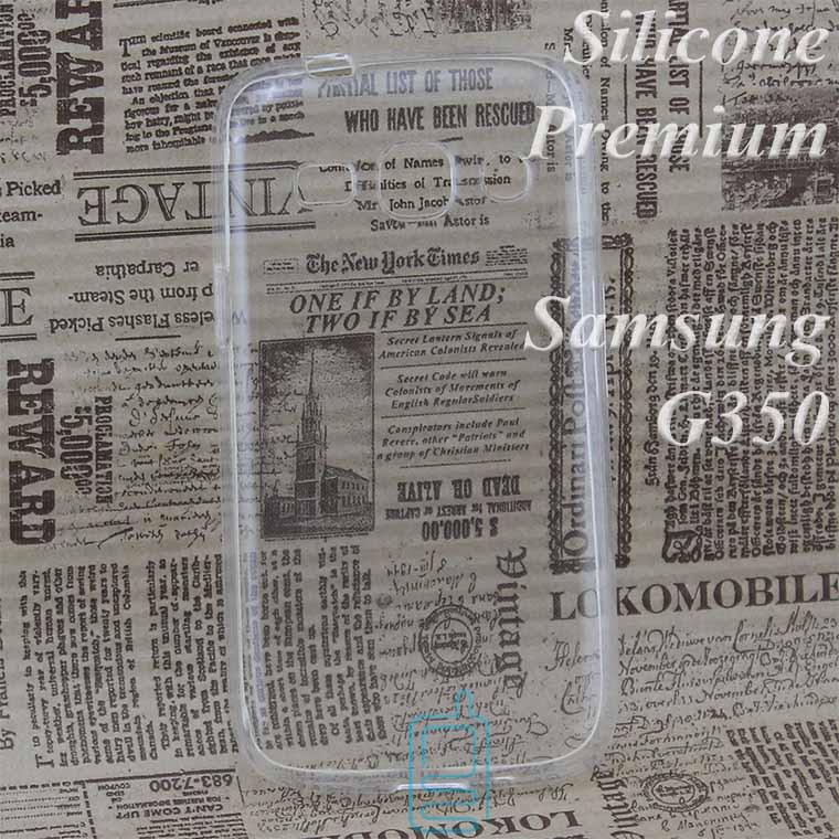 Чехол силиконовый Premium Samsung Star Advance G350 прозрачный