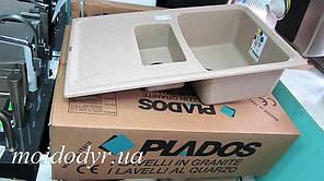 Гранитная кухонная мойка Plados Aros 15 (biege pirtra 92)