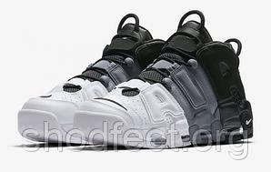 Подростковые кроссовки Nike Air More Uptempo Tri-Color Black Grey White 921948-002