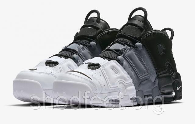 29367cc6 Женские кроссовки Nike Air More Uptempo Tri-Color Black Grey White  921948-002 ...