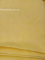 Льняная меланжевая ткань для постельного белья, жёлтого цвета (шир. 220 см), фото 1