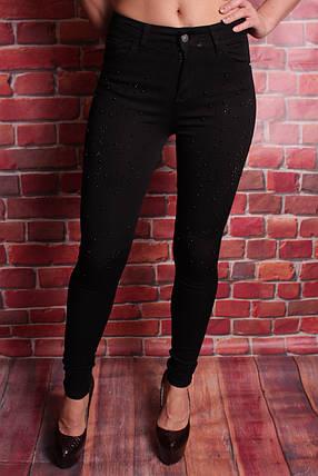 Молодежные женские джинсы со стразами американка Hepyek 26-31разм, фото 2