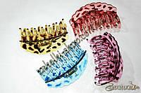 Крабы для волос оптом; материал: силикон, длина: 9 см, разные цвета, 12 штук в упаковке