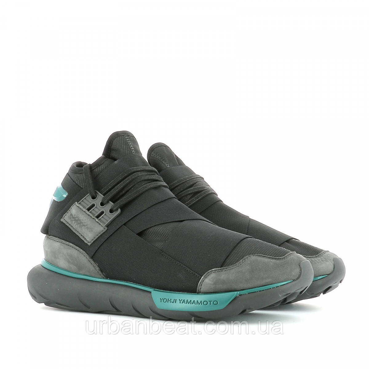 Мужские кроссовки Adidas Y-3 Qasa High Grey Blue РЕПЛИКА ААА+ - Urban 176666c1a