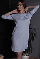 """Женская сорочка ночная из трикотажного 100%хлопкового полотна """"интерлок"""" с рукавом 3/4"""