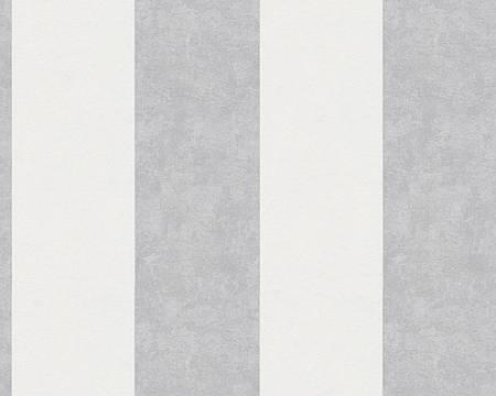 Обои в светло-серую широкую вертикальную полоску 329092.