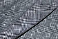 (серая с синим оттенком)Ткань костюмная натуральная  клетка №2