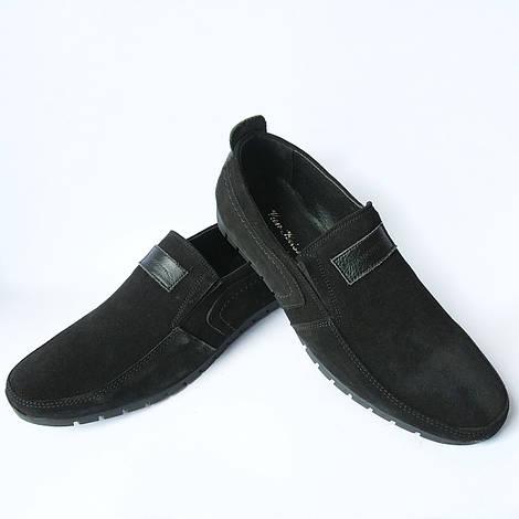 Мужская обувь Украина : черные замшевые мокасины, фабрики Van Kristi
