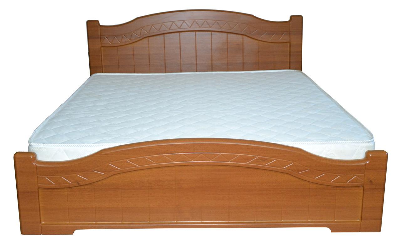 Кровать Доминика 1,6 м светлый орех