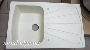 Мойка кухонная гранитная Elleci Living 300 (bianco antico 62)