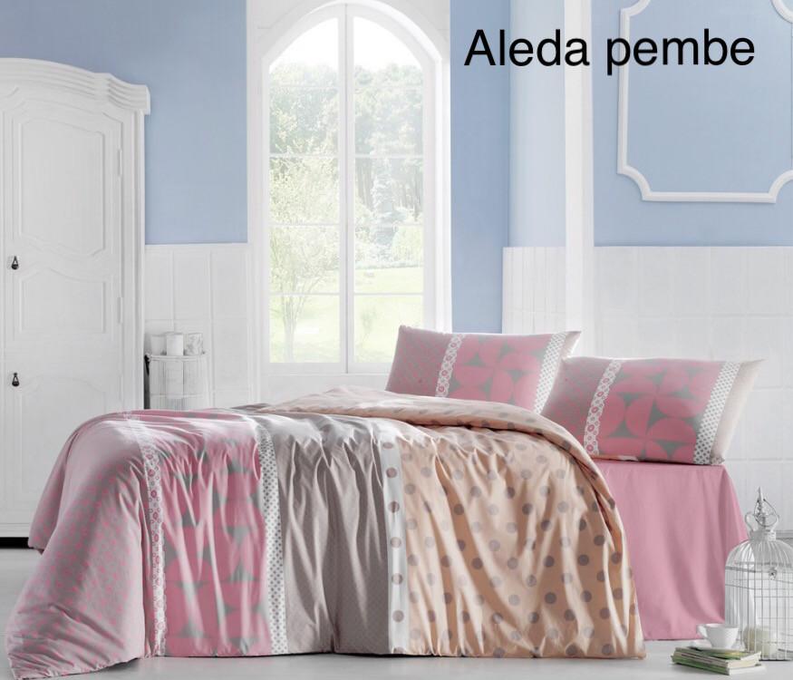 Постельное белье ранфорс Altinbasak (евро-размер) № Aleda Pembe
