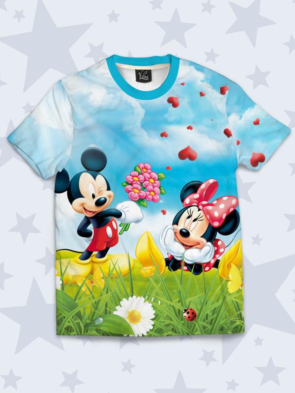 Детская футболка Микки и Минни любовь