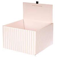 Коробка для цветов с крышкой 0069J/cream