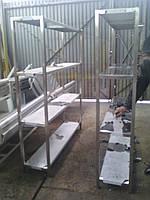 Стеллаж производственный из нержавеющей стали перфорированный СТП-4    500*400*1800