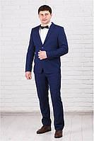 Классический мужской костюм с красной отделкой