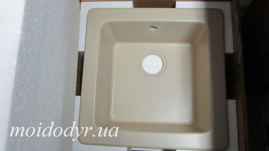 Керамическая врезная мойка для кухни ALVEUS 500х500