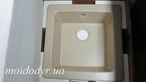Керамічна врізна мийка для кухні ALVEUS 500х500